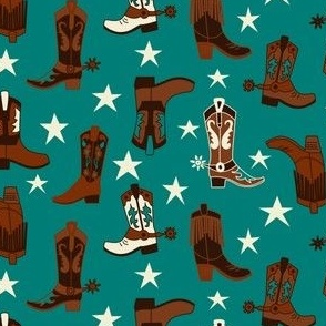 Western Boots Turquoise