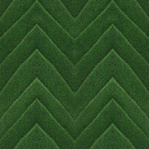 Larger green leaf chevron