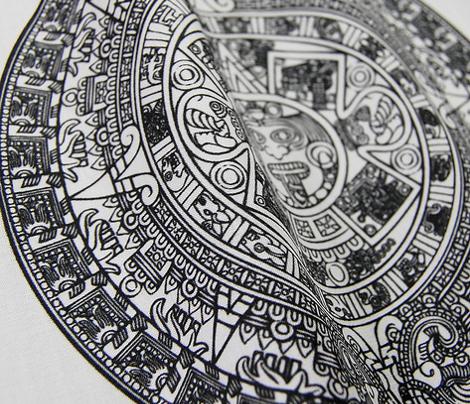 """Aztec Calendar on Mint - Small (2.5"""")"""