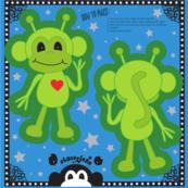 """5"""" Alien Monkey Cut & Sew Doll"""