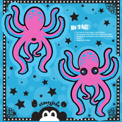"5"" Pink Cut & Sew Octopus Pillow Doll"