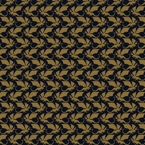 Dragon navy/gold