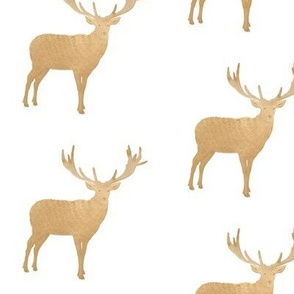 Golden Tan Rustic Deer