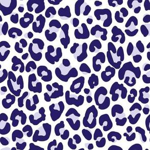 Navy Blue Cheetah Print