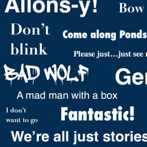 Doctor Who Quotes Large