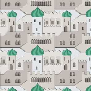 the thousand and one windows (grey-mint)