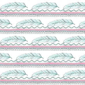 tribal feather rows