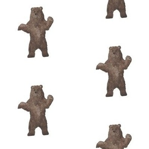 Brown Watercolor Bear