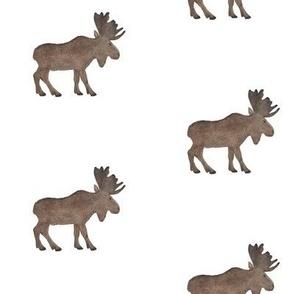 Brown Watercolor Moose