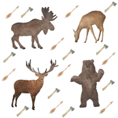 Deer Bear Stag Moose