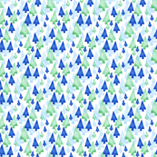 Blue and Green Trees