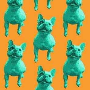 Bertie Two-tone - Green and Orange