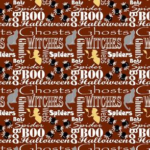 Haunted Halloween Brown