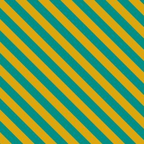 Teal Egyptian Diagonal Stripe