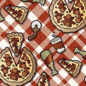 antiqued pizza