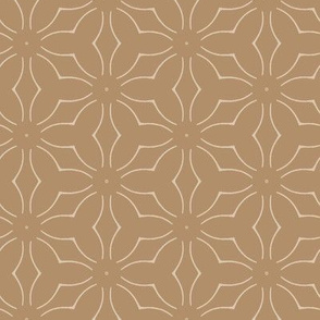 Stylized Flowers in Tan
