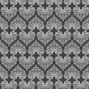 diamondhearts grey/white