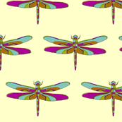 Dragonfly Illustration - Tan