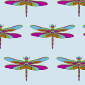 Dragonfly Illustration - Blue