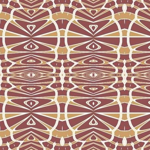 Modern Tribal in Maroon and Mustard