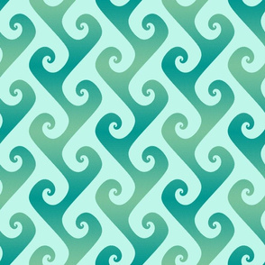 tendrils in surfing teal