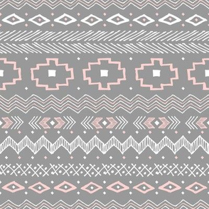 Southwest Stripe (Silver and Pink)