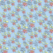 Water Lily 500x12blue pink