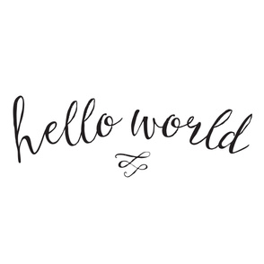 Hello World Baby Blanket // Only Words