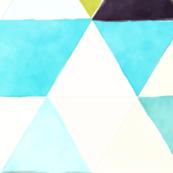 robin's eggs watercolor triangles // oversized