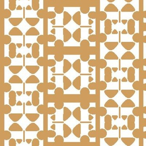 Abstract Elements forming Tan and White Check