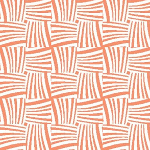 Woven Strands in Orange and White