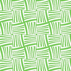 Woven Strands of Lime Green and White