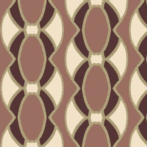 Pink Oval Design Elements in Vertical Stripes