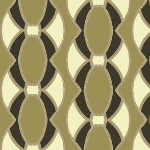 Ovals in Green Forming Vertical Stripe Pattern