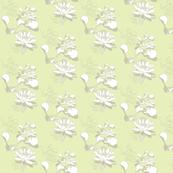 Water Lily Pastel prints grn stone