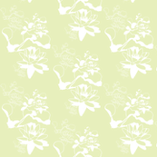 Water Lily Pastel prints grn3