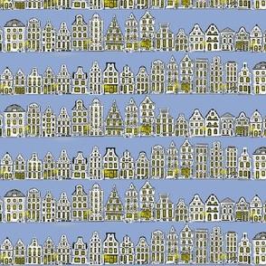 Amsterdam Row Houses (Light Blue)