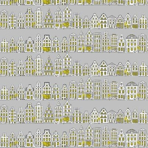 Amsterdam Row Houses (Grey)