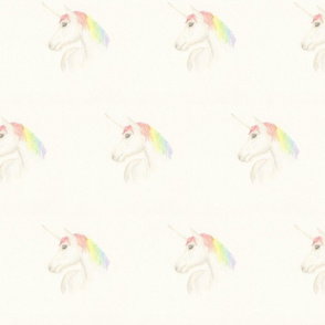 Hand drawn Rainbow Unicorn