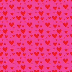 Pink Red Hearts