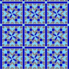 Snowflake Quilt Classic Blue