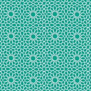 QUILTED STAR-TEAL