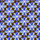 Mint & Blue Floral on Chocolate_Miss Chiff Designs