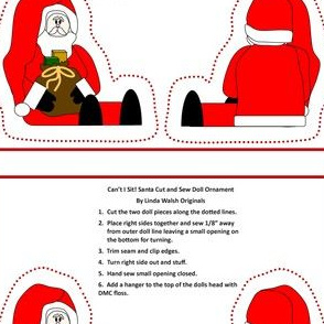 Can't I Sit! Santa Cut and Sew Doll #2