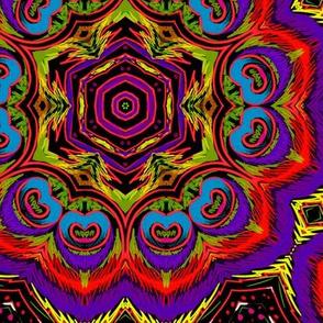 vivid peacock kaleidoscope