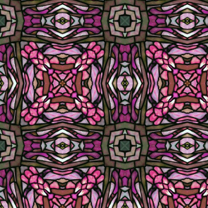tiffany style stained glass squared in pink