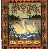 Swan wall rug