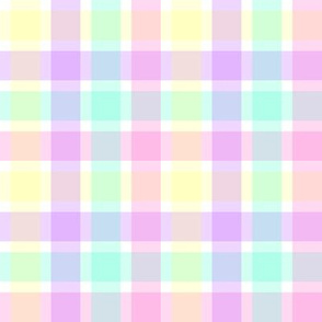 Pastel Homespun Look Plaid