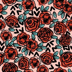 roses // red vintage style half-size smaller print of love valentines print roses