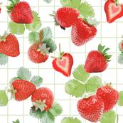 Strawberry Summer with basil tartan